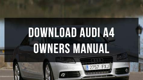 audi  owners manual youtube