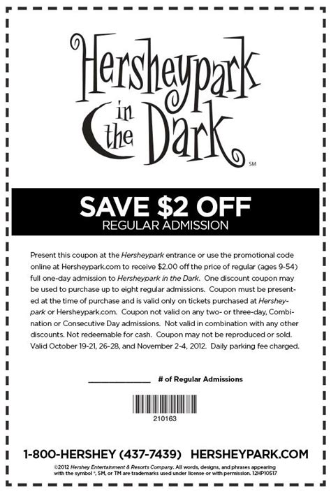17854 Hershey Park Discount Code by Hershey Coupons Coupon Jewelry