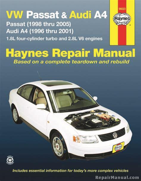free car repair manuals 2002 audi s4 electronic valve timing haynes vw passat 1998 2005 audi a4 1996 2001 auto repair manual