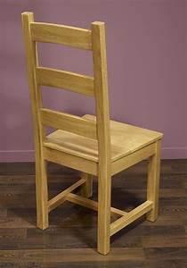 Chaise Chene Massif : chaise en ch ne massif de style campagnard assise chene meuble en ch ne ~ Teatrodelosmanantiales.com Idées de Décoration