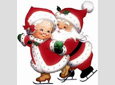 Transparent Cute Mrs Claus and Mr Claus PNG Clipart