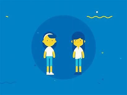 Motion Dribbble Highfive Samsung Graphics Animation Character
