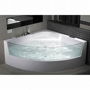 Baignoire Angle Douche : baignoire balneo filotti 150 150 cm baignoire design mobilier salle de bain ~ Voncanada.com Idées de Décoration