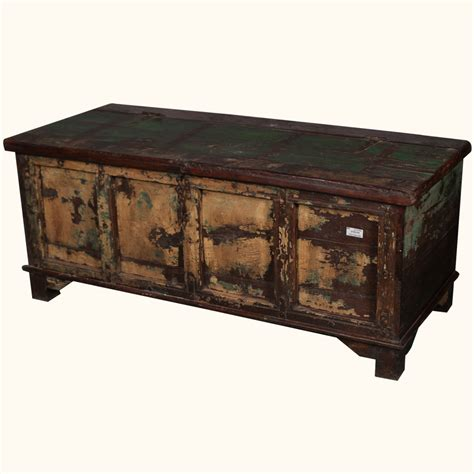 distressed trunk coffee table storage box coffee table rustic distressed reclaimed wood