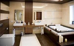 Parquet Salle De Bain : salle de bains ~ Dailycaller-alerts.com Idées de Décoration