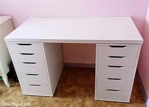 Caisson Tiroir Ikea : ikea caisson alex avec bureau blanc alex ikea tiroirs ~ Melissatoandfro.com Idées de Décoration