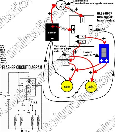 emergency signal stat flasher wiring diagram turn signal