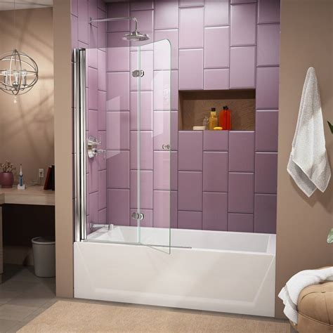 dreamline aqua fold    hinged frameless tub door