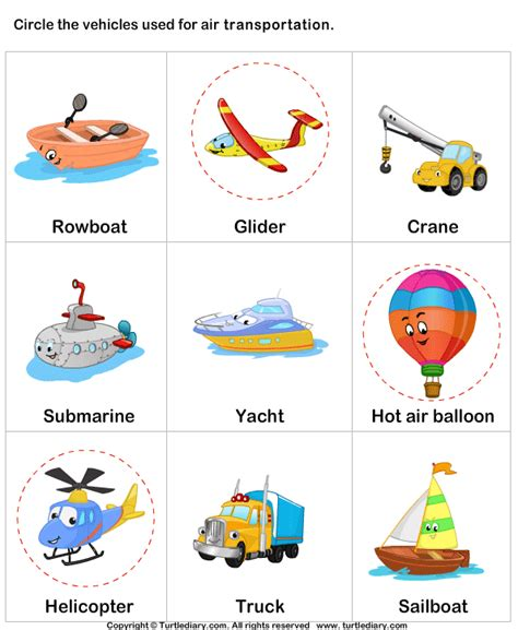 Land Transportation Worksheets For Kindergarten