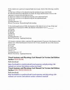 Visual Anatomy And Physiology Lab Manual Cat Version 2nd