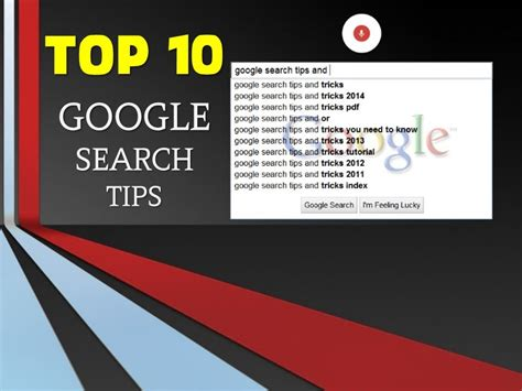 tips and tricks using find useful search tips and tricks slidesfinder