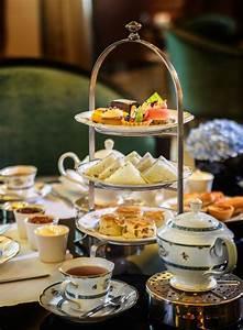 An elegant afternoon tea set at the Ritz-Carlton KL ...