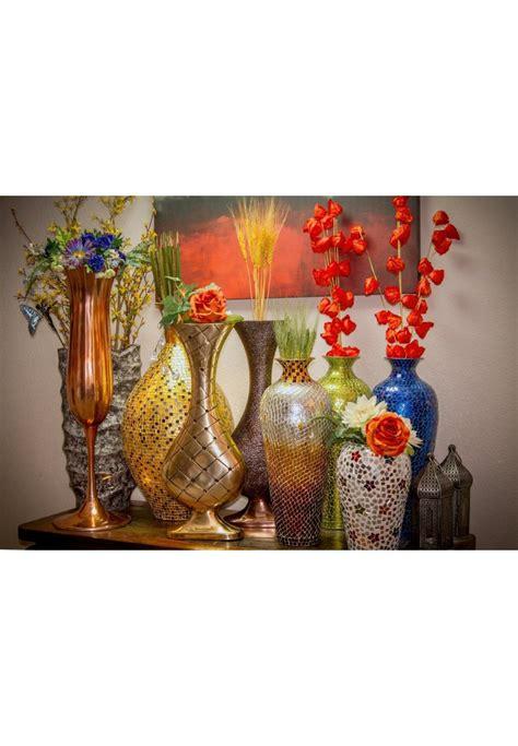 buy 30 quot seketa regent gold surahi jug vase glass mosaic metal floor vase decorshore