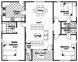 4 bedroom bungalow house designs With house plan design 4 rooms
