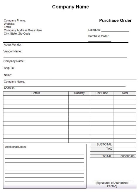 purchase order templates word excel word excel formats