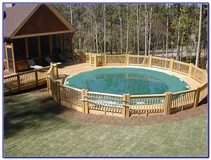Swimming pool decks above ground designs decks home for Above ground swimming pool deck designs
