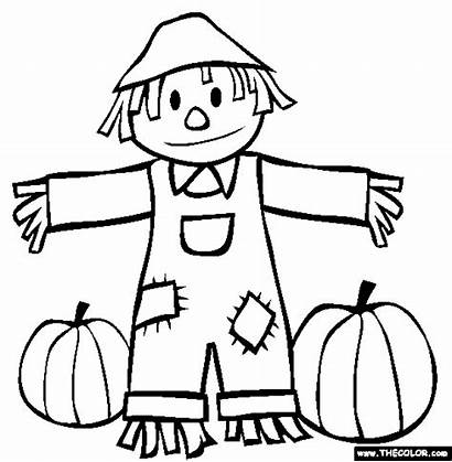 Fall Coloring Pages Autumn Drawings Sheet Printables