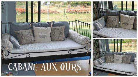 faire des coussins de canapé coussins pour canapé lit la cabane aux ours