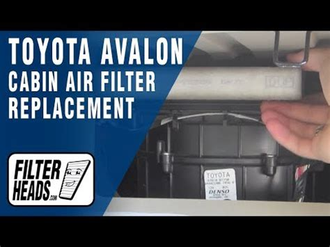replace cabin air filter toyota avalon youtube
