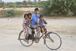 Group Of Indian Children At Bicycle Editorial Stock Photo ...