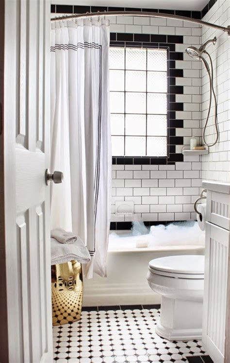 33 Black And White Bathroom Tile Ideas And Pictures