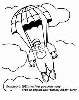 Parachute Jump Coloring Pages Crayola Colouring Colored Drawing Printable March Airplane Activities Blimp sketch template