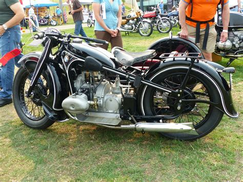 Oldmotodude 1936 Bmw R17 With Sidecar  German Category