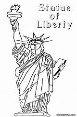 Liberty Statue Coloring Pages Print sketch template
