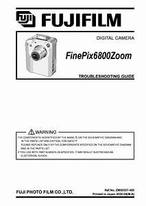 Fujifilm Finepix 6800 Zoom Troubleshooting Guide Service
