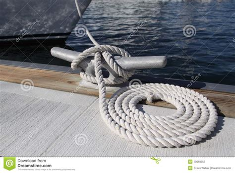 Boat Rope by Dock Rope Royalty Free Stock Photography Image 10618357
