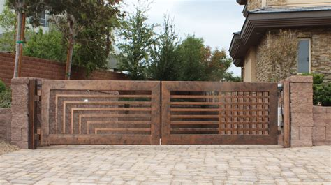 modern gates images contemporary compound wall gate designs modern house