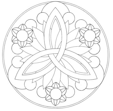simple mandala coloring page coloring home