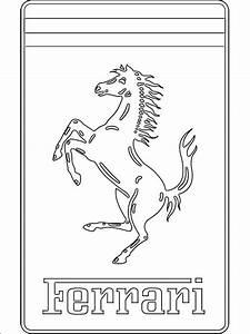 Ausmalbilder Ausmalbilder Ferrari Logo Zum Ausdrucken