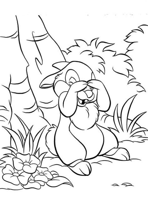thumper play hide  seek   bunny coloring page  print  coloring