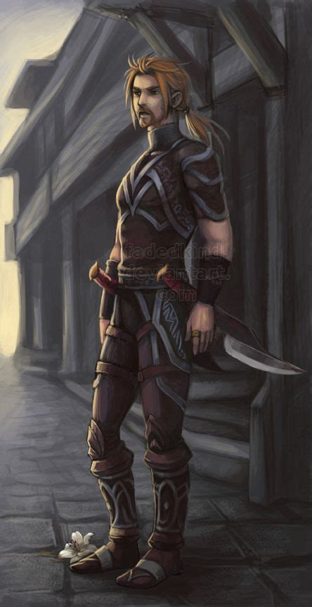 fantasy human characters male character wow medieval rogues dnd heroes deviantart