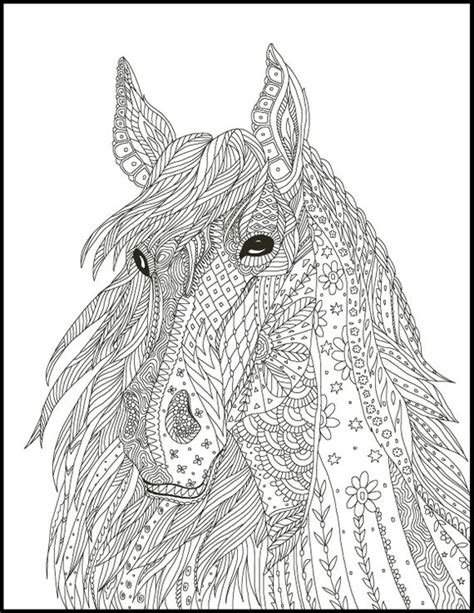 horse coloring pages coloring pages  horse lovers etsy
