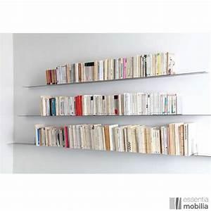 étagères Murales Design : etag re murale m tal cd dvd livres sur mesure en acier essentia mobilia ~ Teatrodelosmanantiales.com Idées de Décoration