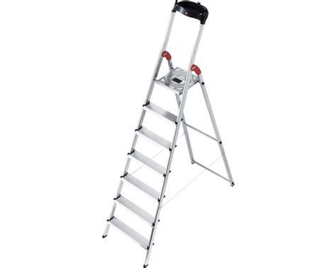 haushaltsleiter 7 stufen haushaltsleiter alu hailo l60 7 stufen bei hornbach kaufen