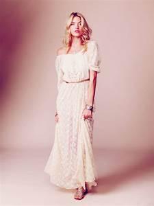 Robe Blanche Longue Boheme : robe dentelle longue boheme robes de soir e et mode femme ~ Preciouscoupons.com Idées de Décoration