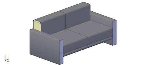 sofa 3 plazas dwg bloques autocad gratis de sof 225 de 2 plazas en 3d modelo 01