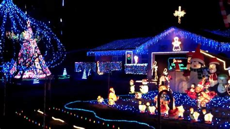 christmas light display videos amazing light display in springfield mo