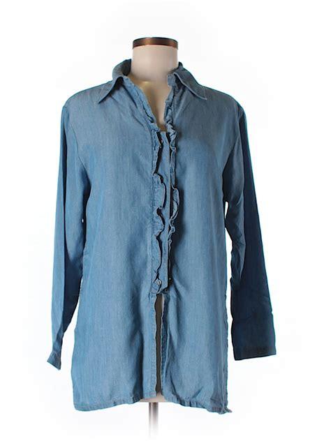 barn fly shirts barn fly 100 tencel lyocell solid blue sleeve button