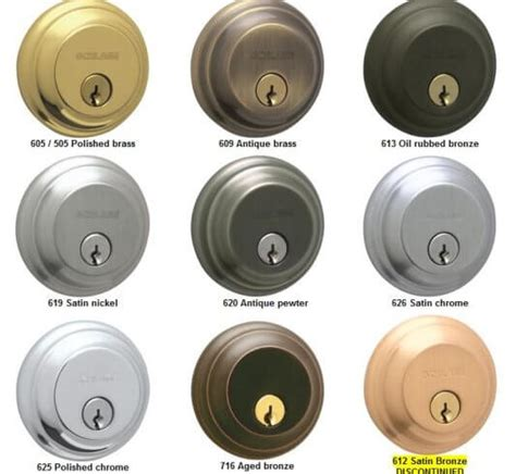 common door hardware finishes