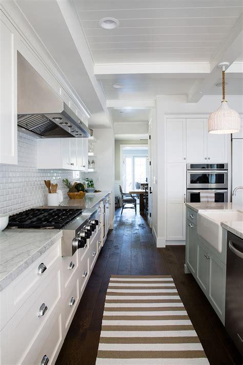 white kitchen floors inspiring white kitchen with light blue island home 1365