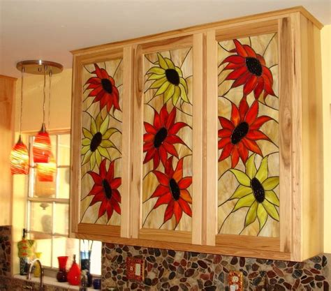 stained glass cabinet doors for my kitchen remodel crackerhill art pinterest stained glass