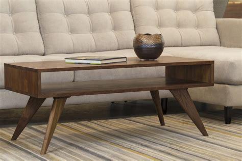 mid century modern coffee table solid wood handmade
