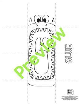 printable shark puppet template craft activities shark