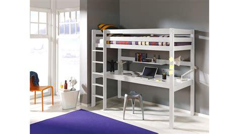 mezzanine 1 place lit mezzanine 1 place avec bureau clara en pin massif so nuit