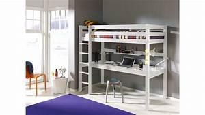 Lit 1 Place But : lit mezzanine 1 place avec bureau clara en pin massif so nuit ~ Teatrodelosmanantiales.com Idées de Décoration