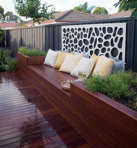how to make a deck and planter box seat better